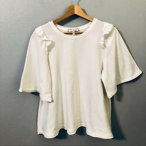 zero + ali White Cotton Blouse Size SP